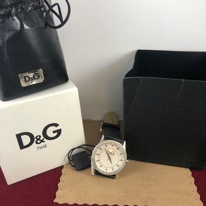 Dolce & Gabbana Accessories - Dolce and Gabbana Silver Tone Watch with Crystals